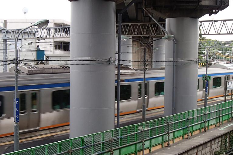 東海道新幹線西谷B耐震補強工事